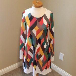 Colorful Geometric Dress